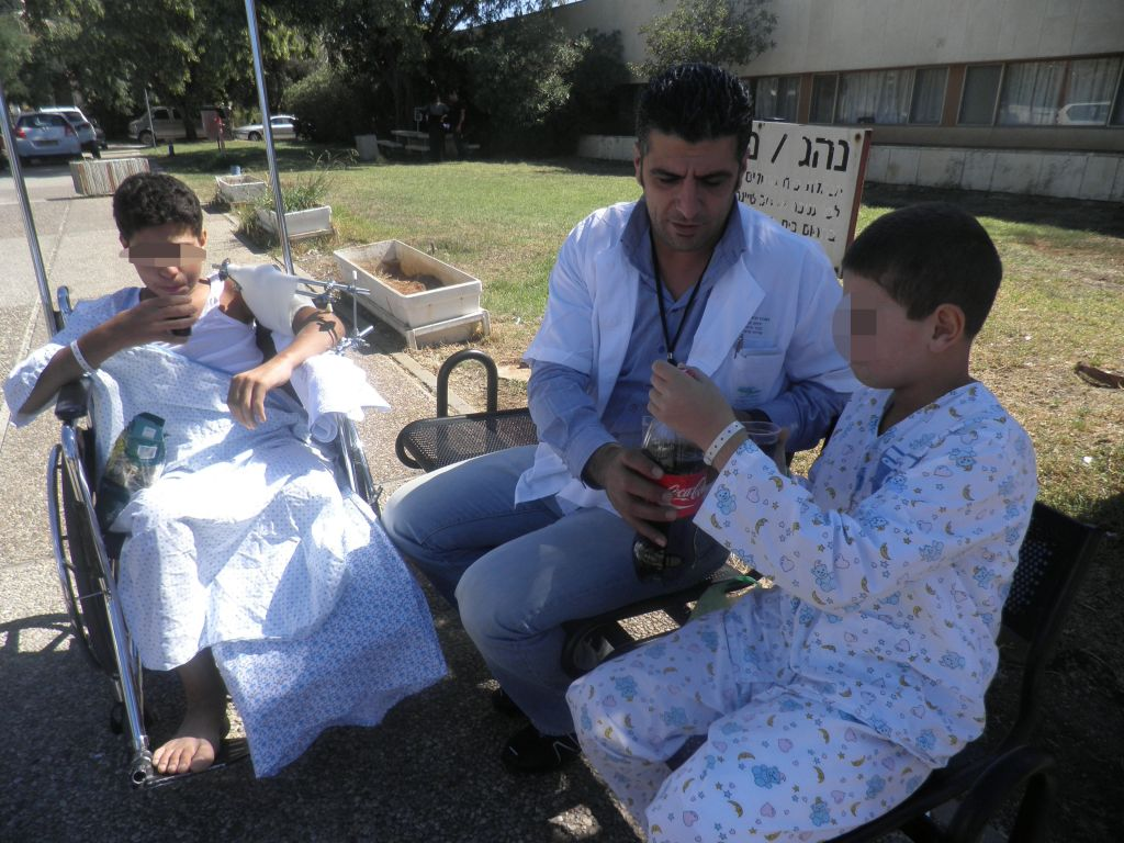 Syrian children being treated at the Ziv Medical Center in Safed (Courtesy)
