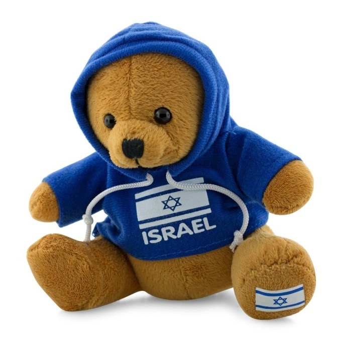Teddy Bear with Israeli Flag Sweatshirt RRP $17 Our Price $9.99