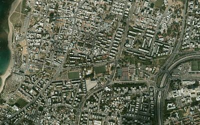 Holon and Bat Yam from the air (Courtesy)