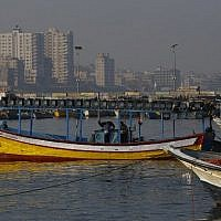 File: Palestinian fishing boats are seen at the sea port in Gaza City on April 1, 2016. (AFP/Mohammed Abed)