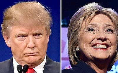 This photo taken on March 2, 2016 shows a combination of file photos of Republican presidential hopeful Donald Trump on January 14, 2016 and his Democratic rival Hillary Clinton on February 4, 2016. (AFP PHOTO / PHOTO DESK)