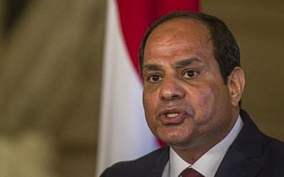 Egyptian President Abdel-Fattah el-Sissi in Cairo on April 17, 2016 (AFP/Khaled Desouki)