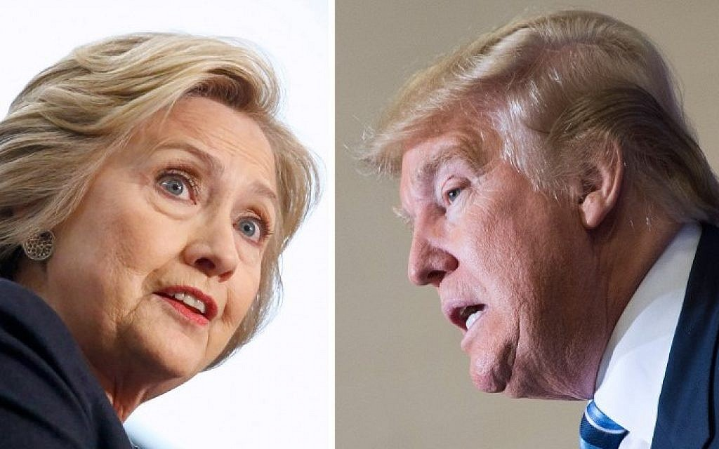 This file photo combination shows Democratic presidential candidate Hillary Clinton (left) on April 4, 2016, and Republican challenger Donald Trump on February 16, 2016. (AFP/dsk)