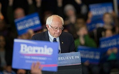 Democratic presidential candidate Senator Bernie Sanders (D-Vermont) arrives at a campaign rally in Milwaukee, Wisconsin, on April 4, 2016. (Scott Olson/Getty Images/AFP)