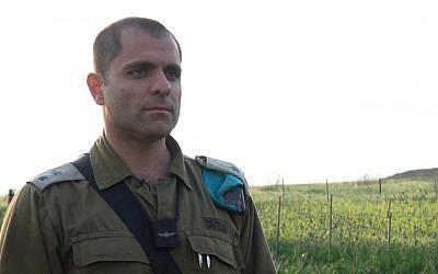 Lt. Col. Yigal Katzav, commander of the Artillery Corps's training base. (IDF Spokesperson's Unit)