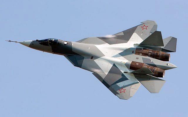 File. The Russian Sukhoi T-50 stealth fighter. (Alex Beltyukov/Wikimedia/CC BY-SA 3.0)