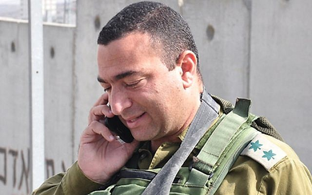 Col. Yisrael Shomer, who was cleared on April 10, 2016 in the shooting death of a Palestinian teenager the previous summer. (Credit: IDF Spokesperson's Unit)