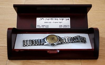 Lt. Yakir Naveh's watch, found at the bottom of the Sea of Galilee. (Israeli Air Force)