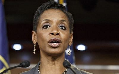 Rep. Donna Edwards, D-Md., speaks on Capitol Hill in Washington on Nov. 17, 2014. (AP File Photo/J. Scott Applewhite)