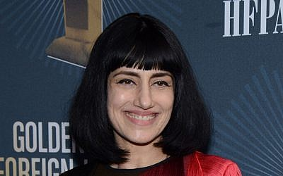 Actress and director Ronit Elkabetz arrives at the Golden Globes Foreign Language Symposium at Egyptian Theatre on Saturday, January 10, 2015, in Hollywood, California (Tonya Wise/Invision/AP)