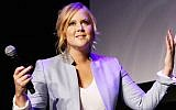 Amy Schumer speaking about her film 'Trainwreck' at the 2015 Tribeca Film Festival in New York, April 19, 2015. (JTA/Robin Marchant/Getty Images)