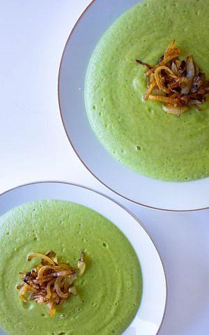 Broccoli and Parmesan Soup (Megan Wolf/via JTA)