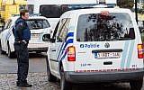 Illustrative: A police vehicle in Brussels, Belgium, on April 8, 2016. (AP/Geert Vanden Wijngaert)