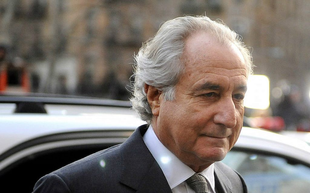Bernie Madoff arriving at Manhattan federal court, March 12, 2009. (Stephen Chernin/Getty Images via JTA)