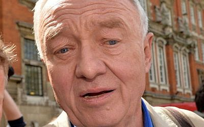 Former mayor of London Ken Livingstone, outside Millbank in Westminster, London, April 28, 2016. (Anthony Devlin/PA via AP)