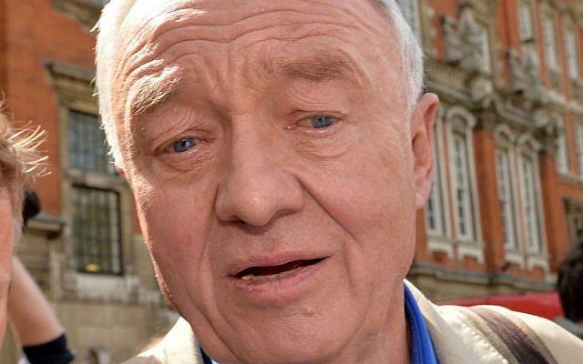 Former mayor of London Ken Livingstone outside Millbank in Westminster, London, Thursday April 28, 2016. (Anthony Devlin/PA via AP)