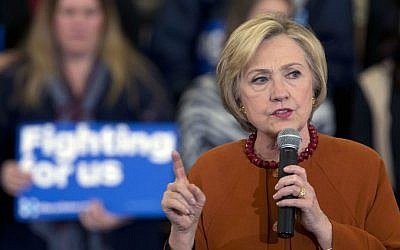 Democratic presidential candidate Hillary Clinton speaks at a campaign event, Saturday, April 2, 2016, in Eau Claire, Wisconsin. (AP Photo/Mary Altaffer)