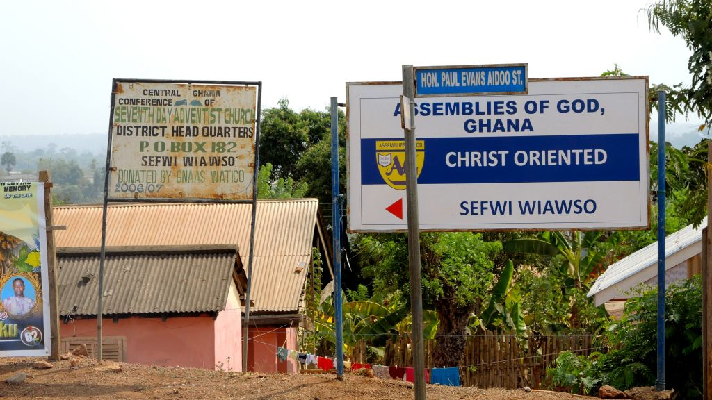 In a Gallup poll, 95% of Ghanaians said religion was an 'important part of daily life.' Sefwi Wiaso is heavily Seventh Day Adventist. (Melanie Lidman/Times of Israel)
