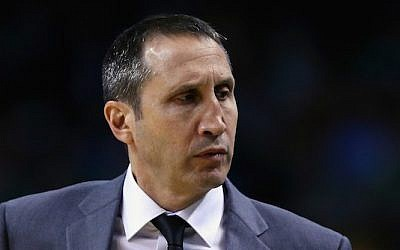 David Blatt of the Cleveland Cavaliers looks on during the first quarter against the Boston Celtics at TD Garden on December 15, 2015 in Boston, Massachusetts. (Maddie Meyer/Getty Images via JTA)