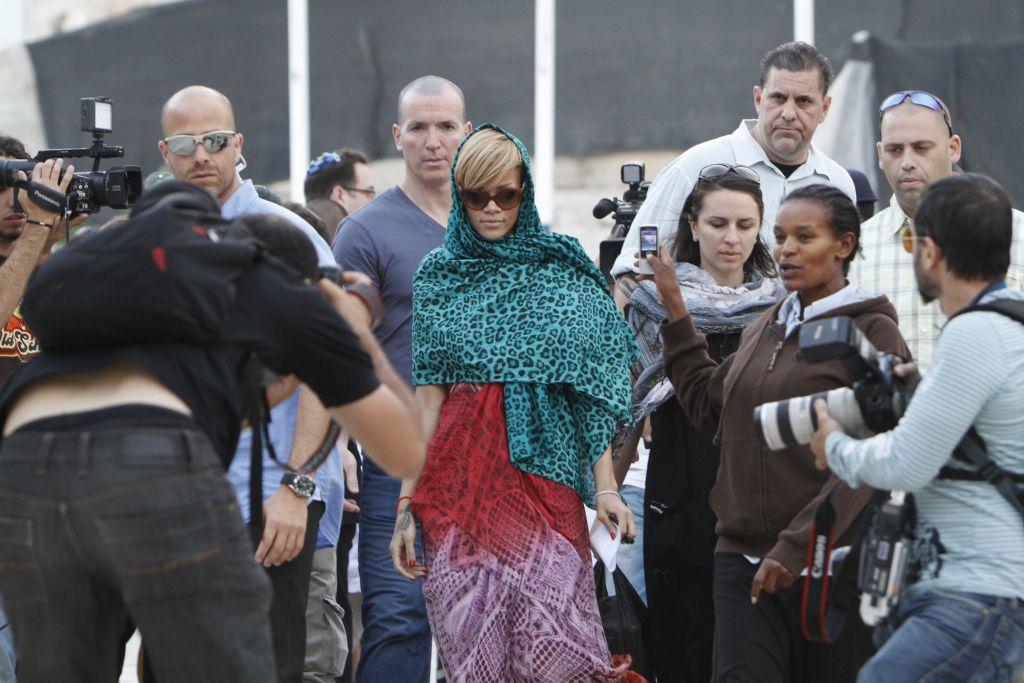 Rihanna last visited Israel in 2010, and performed at Tel Aviv's Sacher Park (Miriam Alster/Flash 90)