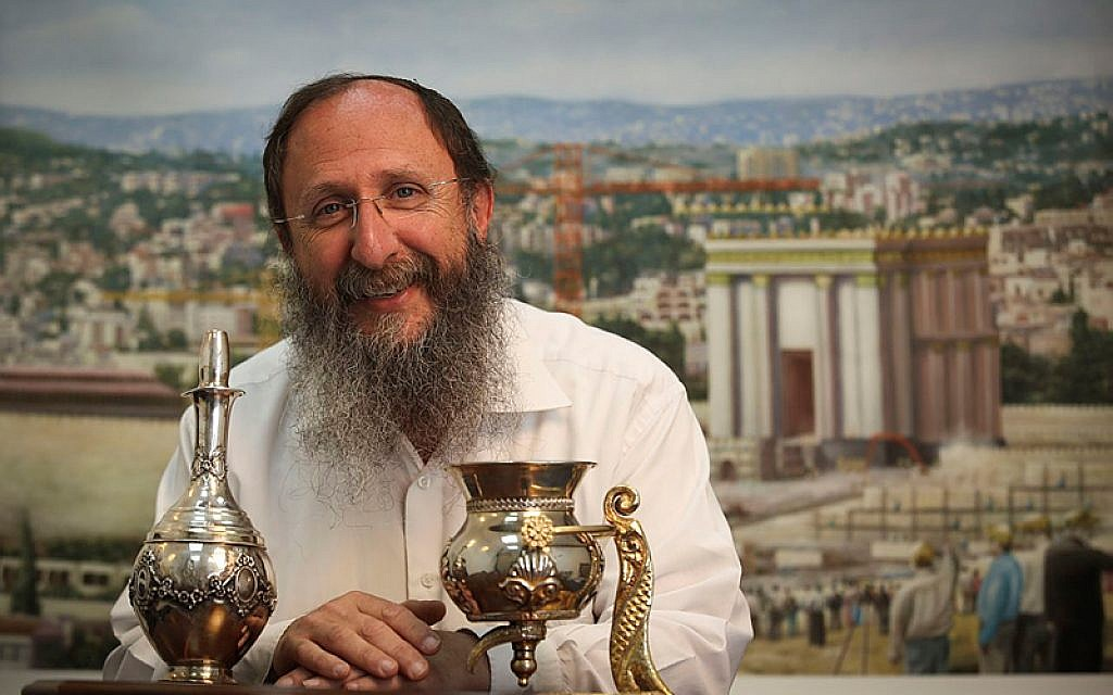 Portrait of Rabbi Chaim Richman, the International Director of the Temple Institute, which is dedicated to the rebuilding of the Holy Temple in Jerusalem. (Nati Shohat/Flash90)