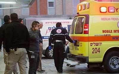 Illustrative photo of an ambulance (Yonatan Sindel/Flash90 )