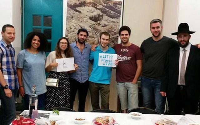 Students celebrating #SolidarityHavdalah at the Hebrew University campus in Jerusalem, April 9, 2016. (Facebook/via JTA)
