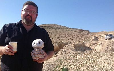 Indigenous activist Ryan Bellerose in the Negev Desert (courtesy)