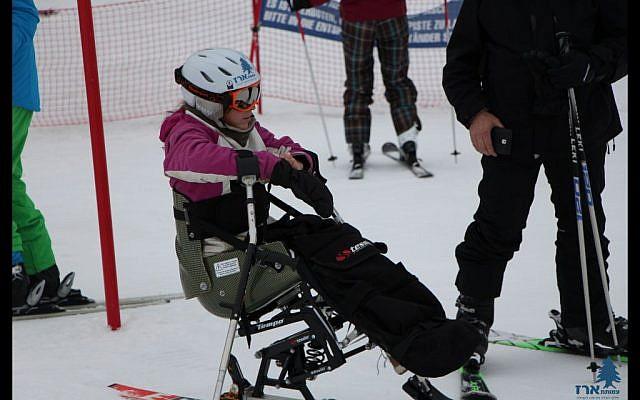 Tzippi Bloomberg participates in the Erez Foundation ski and snowboard program (Erez Foundation, a search & rescue and contribution to the community/Courtesy)