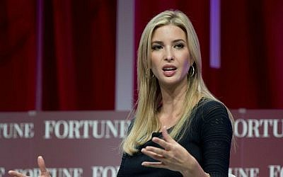 In this Oct. 14, 2015, file photo, Ivanka Trump, daughter of Republican presidential candidate Donald Trump, founder and CEO of the Ivanka Trump Collection and executive vice president for development and acquisitions of The Trump Organization, speaks at the Fortune Most Powerful Women Summit in Washington. (AP Photo/Carolyn Kaster, File)