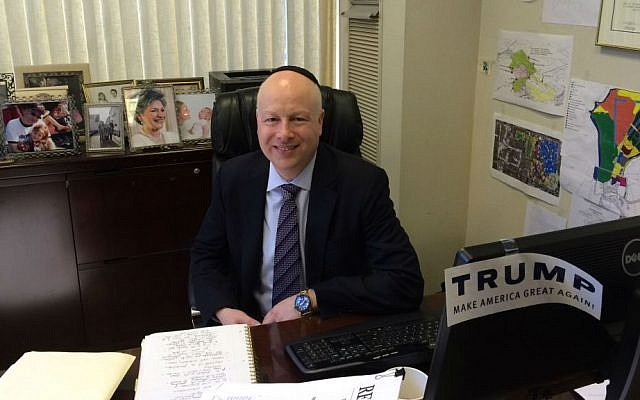Lawyer Jason Dov Greenblatt would be thrust into the post of presidential adviser on Israel if Trump wins the White House. (Uriel Heilman/JTA)