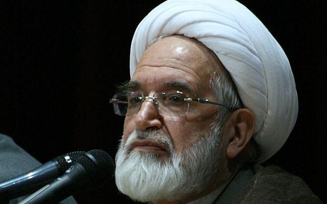 Mehdi Karroubi lecturing in Zanjan University in Iran, 2009. (Wikipedia/Mardetanha/CC BY-SA 3.0)