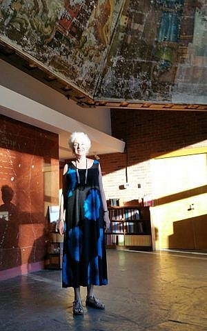 Former Vermont Gov. Madeleine Kunin at the unveiling of the restored mural, 2015 (Courtesy)