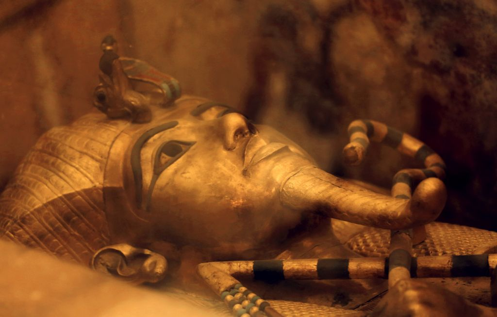 Illustrative photo of Egypt's famed King Tutankhamun's golden sarcophagus as displayed at his tomb in a glass case at the Valley of the Kings in Luxor, Egypt, Friday, April 1, 2016. (AP Photo/Amr Nabil)