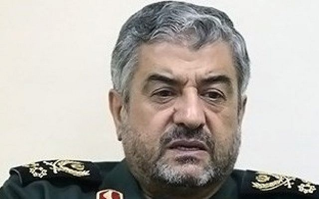 Commander of Iran's Revolutionary Guards Gen. Mohammad Ali Jafari, October 9, 2013. (CC BY 4.0 Tasnim News/Wikipedia)