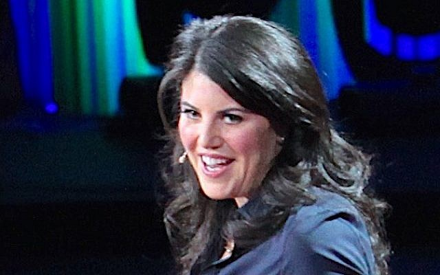 Monica Lewinsky during a TED talk in 2015. (CC-BY 2.0 Wikimedia/Jurveston)