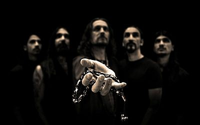 The musically diverse members of Orphaned Land, Israel's best-known heavy metal band (Courtesy Orphaned Land)