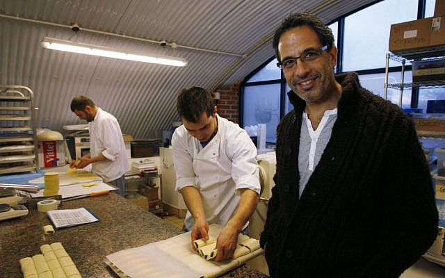 Israeli chef Yotam Ottolenghi poses at his company's bakery in London on December 12, 2012. (AP/Lefteris Pitarakis)