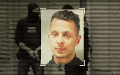 Salah Abdeslam, the leading suspect in last year's jihadist attacks on Paris, was captured in Brussels on March 19, 2016. (screen capture: YouTube)