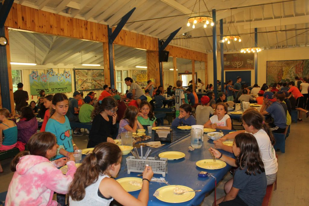 Campers at Camp Ramah in the Berkshires in Wingdale, New York. (Uriel Heilman/via JTA)