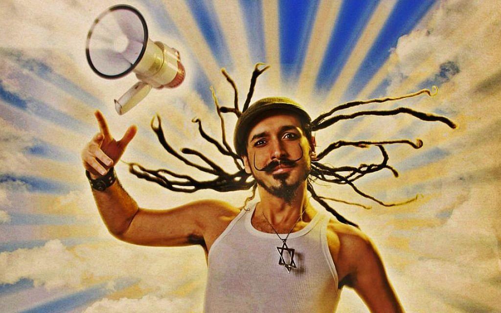 "The cover of Simja Dujov's 2008 album ""Santificaras las Fiestas, which combines klezmer and Latin American beats (Courtesy)"