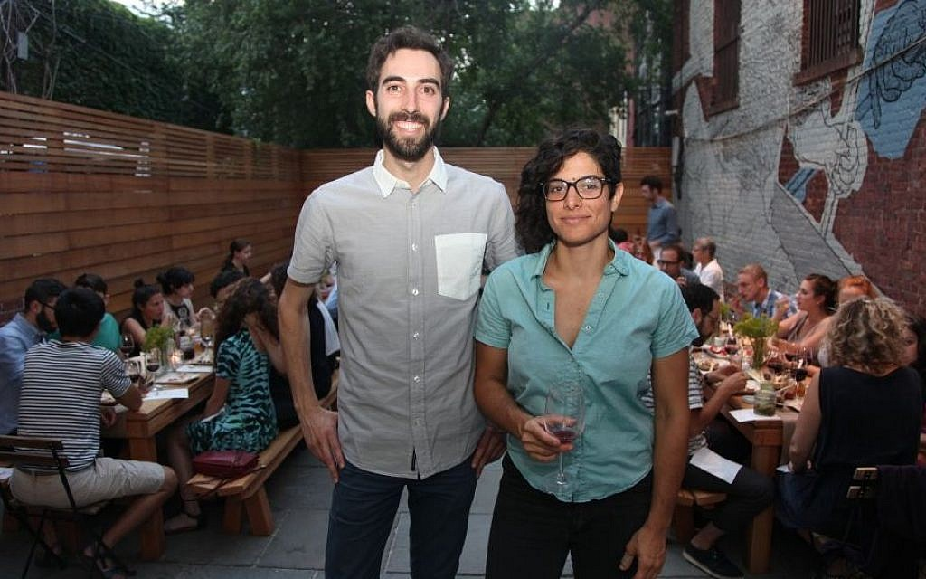 Jeffrey Yoskowitz and Liz Alpern at a culinary event (Shulie Seidler-Feller)