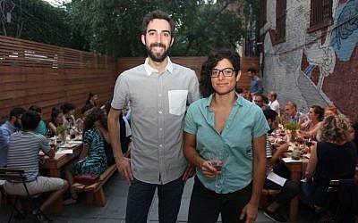 Jeffrey Yoskowitz and Liz Alpern at a culinary event (Shulie Seidler-Feller)