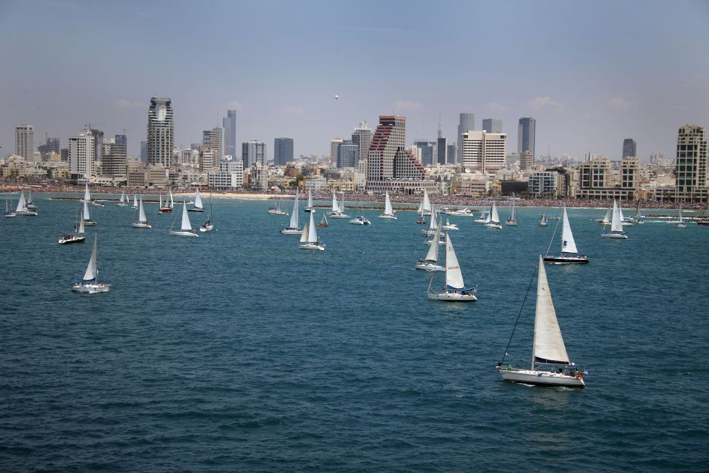 Find a spot on the sand to feast your eyes on the flotilla of Sail Tel Aviv, taking place on April xx (Courtesy Ziv Koren)