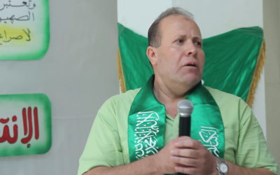Imad Barghouthi speaks at a Hamas rally at al-Quds University in Jerusalem in October 2014. (screen capture: YouTube)