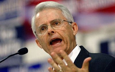In a November 10, 2007, file photo, Dick Black speaks at a convention held by the Republican 1st District Congressional Committee in Milford, Virginia. (Peter Cihelka/The Free Lance-Star via AP)