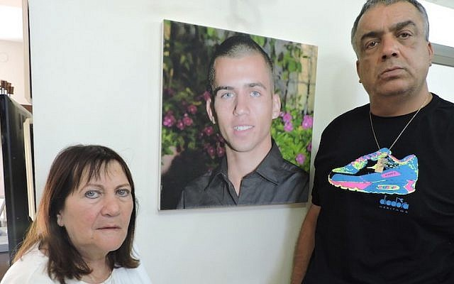 Zehava and Herzl Shaul say they have no definitive proof that their son Oron died after he was captured by Hamas in Gaza City on July 20, 2014. (JTA/Ben Sales)