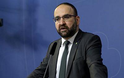 Sweden's Housing Minister Mehmet Kaplan (Jessica Gow / TT via AP, File)