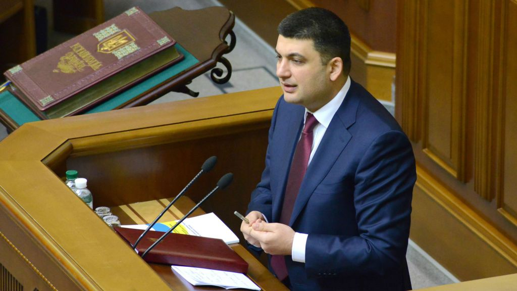 Vlodymir Groysman would be Ukraine's first openly Jewish prime minister and, at 38, the youngest person to hold the post. (Wikimedia Commons/via JTA)
