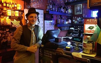 Vlodymir, a waiter at the Pid Zolotoju Rozoju restaurant who calls himself Moishe, March 14, 2016. (Cnaan Liphshiz/JTA)